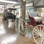 Two of many buggies at the museum