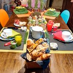 Lovely welcoming breakfast table in B & B