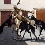 Bronze sculpture by Daniel Hourde in local gallery