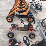 Les nouveaux karts pour faire le tour des Alicourts (préparez vos cuisses et vos mollets !)