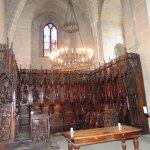 Il coro in legno antico tutto intarsiato