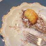 Peach stuffed chocolate croissant (YUM!)