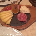 Cheese, cold meats and chilli jam - perfect with a good glass of wine