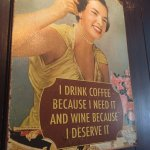 Very apt poster on the wall at Cais do Vinho
