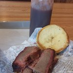 Famous Beef Brisket Sandwich and sauce