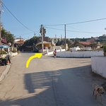 The road up to Tsaros Apartments from the main road.