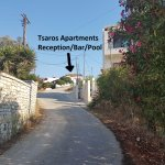 The view from the road up to Tsaros Apartments