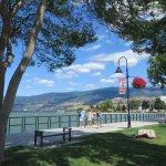 Okanagan Lake, a short walk from the hotel