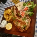 The Cypriot favourite, grilled pork chop, beautifully cooked and served