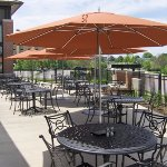 Patio seating available