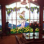 Beautiful stained glass in the lobby