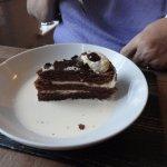 black forest gateau with cream