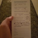 Comment Card Back