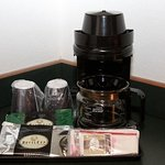 Every room comes equipped with coffee and tea maker as well as complimentary coffee and tea