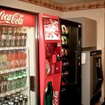 Soda and vending machines as well as ice machine located on ground floor