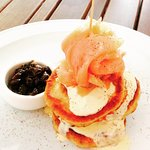 Salmon blini - a memorable lunch at Forages