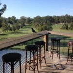 Great view from the upstairs bar at Hundred Acre bar