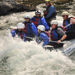 Shooting the rapids with Mo!  So much fun for the entire boat.