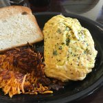 Southwest Omelette and Sweet Potato Hash Browns