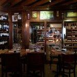 Interior of El Carajo with their fine wine room