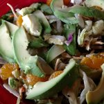 Asian Chicken Salad - with Avocado Substituted for the Chicken. Yumm!!
