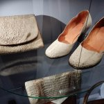 Purse and shoes made from toad skin.