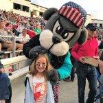 Meeting the mascot