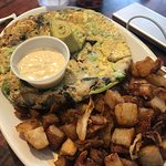 Ocean Frittata with home fries
