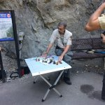 A Timp Cave volunteer shares information on the local red tailed hawks