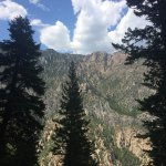 The view of American Fork Canyon at the exit of Timpanogos Cave