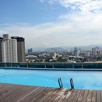 View from the roof top pool