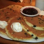Bountiful pileof blueberry pancakes