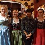 Staff in authentic German costume