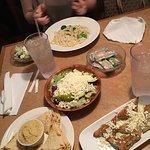 Greek salad, spanakopita, pitta and hummus