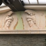Relief sculpture of two near-mirror images of Athena, patron of Athens