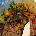 Salad with rusty metal bracket 1