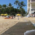 Right on Waikiki beach