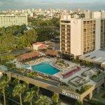 Sheraton Santa Domingo Hotel sits across the street from the Caribbean Sea