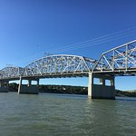 A look at the bridge from the water while fishing.