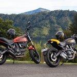 Ducati Scramblers around the sounds