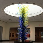 As you enter the exhibits you see this magnificent piece from Chihuly's glass sculptures!