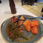 Veggies served on a side plate, very lekker!