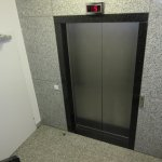 Lift from behind reception to all floors