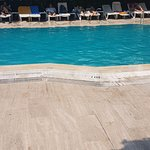 The pool was dirty and couldnt see the bottom, could easily drown and no one would notice!