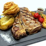 T-bone steak.