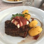 The steak was amazing