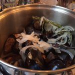 Traditional moules mariniere