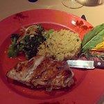 Frango com molho agridoce, arroz e legumes! Top!