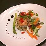 Croustillant de Thon , quinoa et légumes croquant