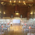 The wedding barn dressed and ready to go